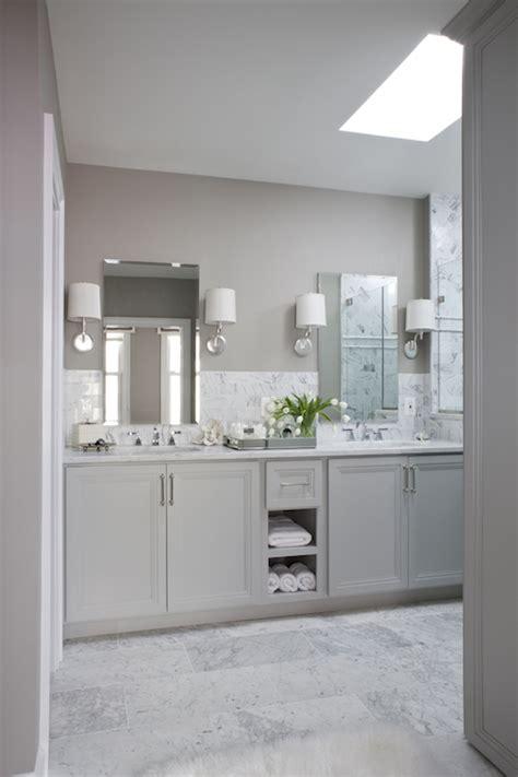 gray dual vanity transitional bathroom roxanne lumme