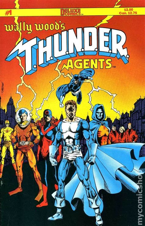 thunder books wally wood s thunder agents 1984 comic books