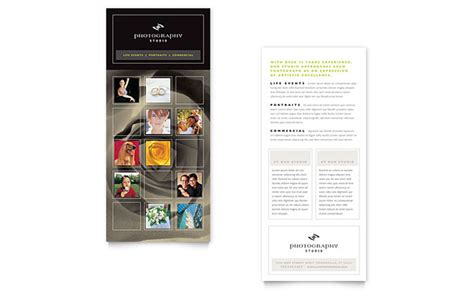 rack card templates photography studio rack card template design