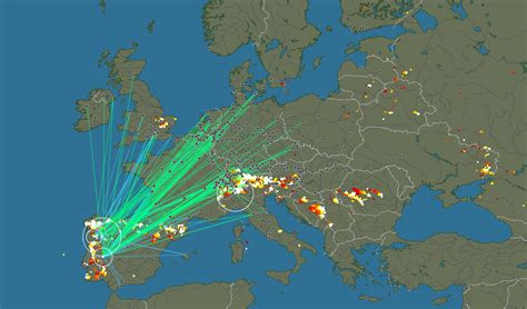 lightning strikes map a real time map of lightning strikes around the world the word