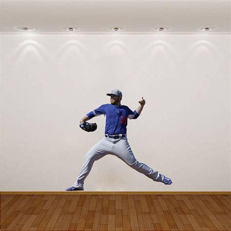 baseball wall stickers baseball player wall mural decal sports wall decal