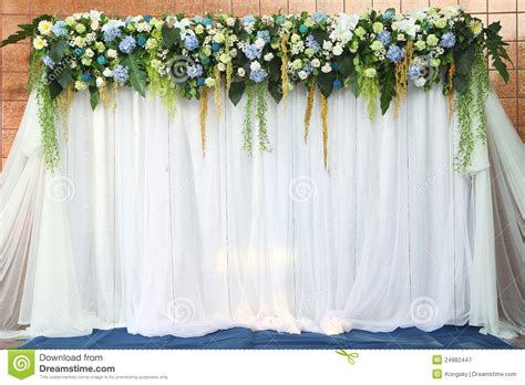 Wedding Backdrop Animation by White And Green Backdrop Flowers Royalty Free Stock