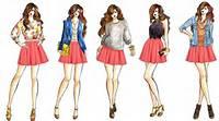 Skater Skirt Fashion Design Sketch