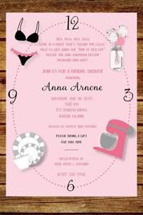 around the clock wedding shower invitation custom around