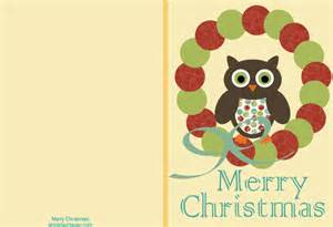 Holiday haven free printable christmas cards cute owl cards