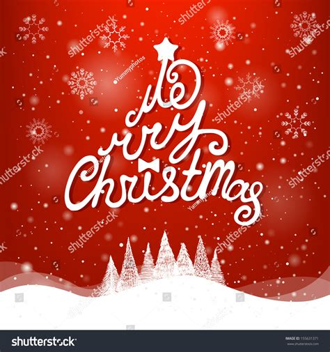 christmas cards shutterstock greeting card merry lettering stock vector 155631371