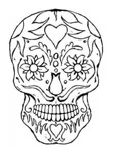 Printable Adult Coloring Pages Skulls sketch template