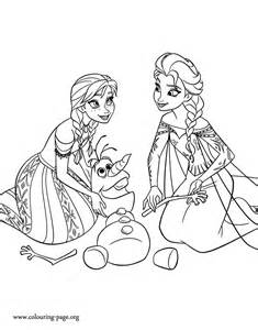 Like olaf lost his body parts and the two sisters anna and elsa