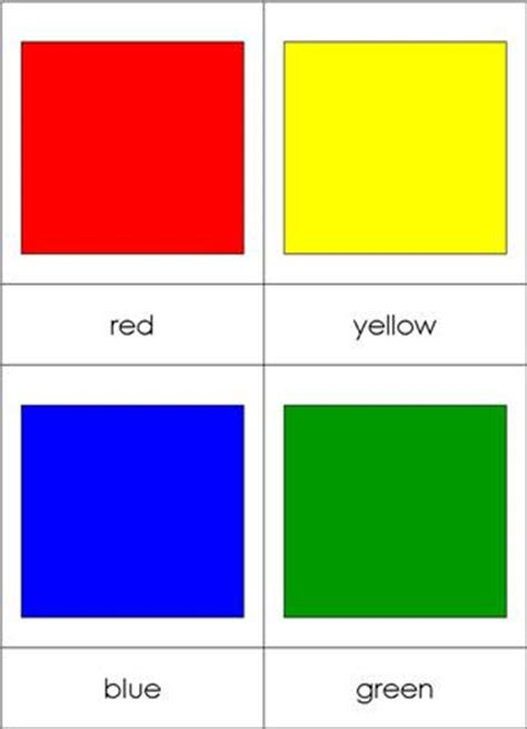 cards color color nomenclature cards chart from montessori for everyone