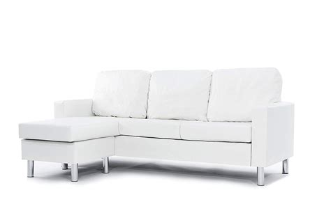 leather sectional sofa white reversible chaise lounge room