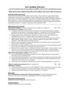 Clinical research assistant resume sample cover letter for emergency