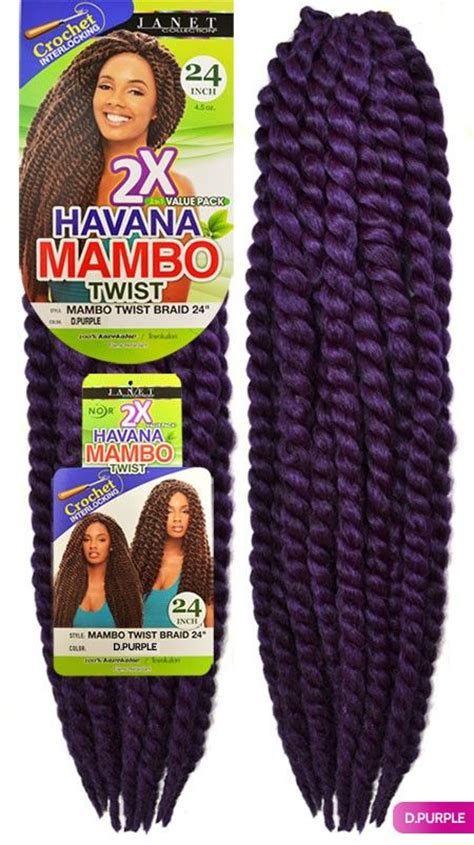 natural twist already braided in the pack janet collection noir havana mambo twist braid 24 2 in 1