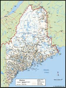 Maine map map of maine town amp city maine map online
