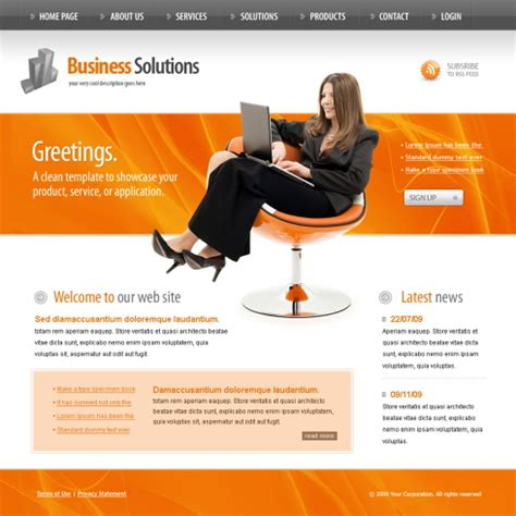 Information Technology Website Template 5985 Computers Technology Website Templates Information Web Template