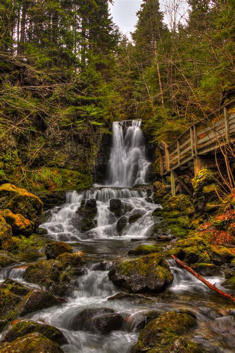 dickson falls in fundy national park new brunswick canada hdr dickson falls fundy national park photograph by jamie