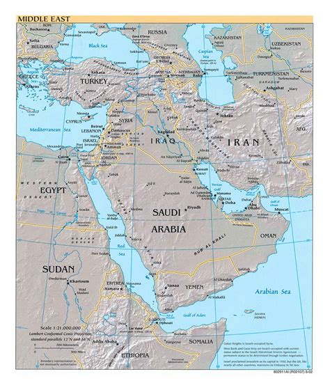 middle east city map detailed political map of the middle east with relief