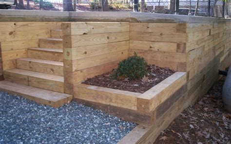 landscape timber landscape timber retaining wall ideas webzine co