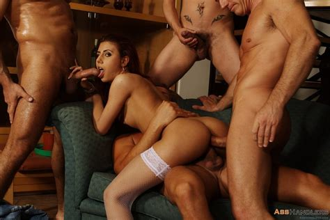 Crystal Crown Gets Her Holes Pounded By Four Guys 2 Of 2