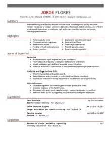 Best Entry Level Mechanic Maintenance Janitorial Resume