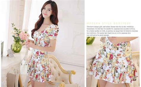 mini dress motif bunga cantik 2016 model terbaru jual