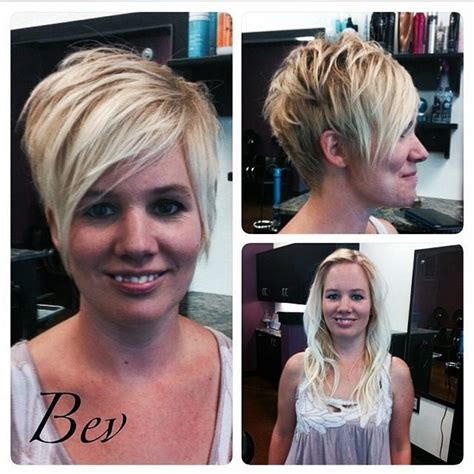 pixie hairstyles before and after long blonde to pixie before and after personal blog