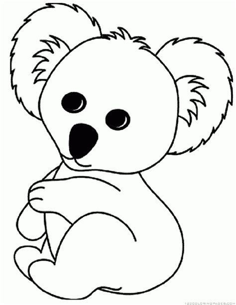 printable coloring pages koala cute funny koala coloring pages 25655 bestofcoloring com