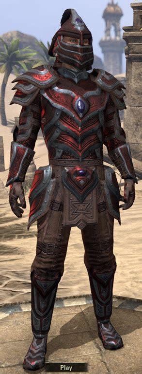 ebony light armor eso eso fashion redguard rubedite