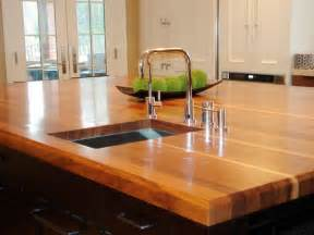 countertops for kitchen islands butcher block and wood countertops hgtv
