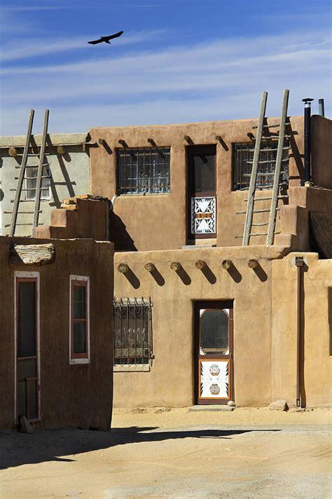 Pueblo Adobe Homes by Acoma Pueblo Adobe Homes Photograph By Mike Mcglothlen