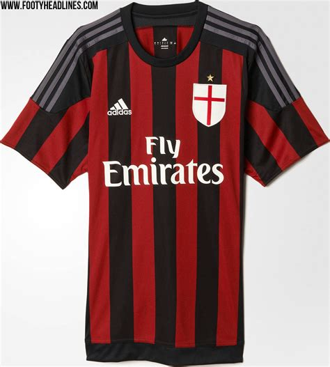 Jersey Inter Milan Home Sleeves 2015 2016 ac milan 15 16 kits revealed footy headlines