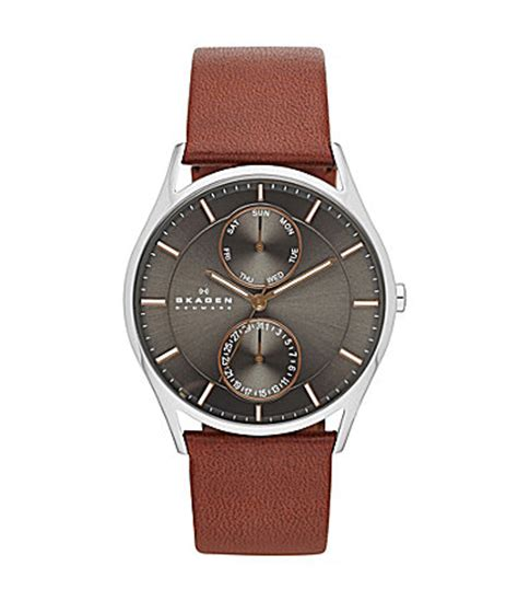 skagen s 3 multifunction leather dillards