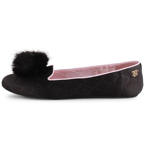 black slipper shoes ted baker iveye womens satin black slipper new shoes all