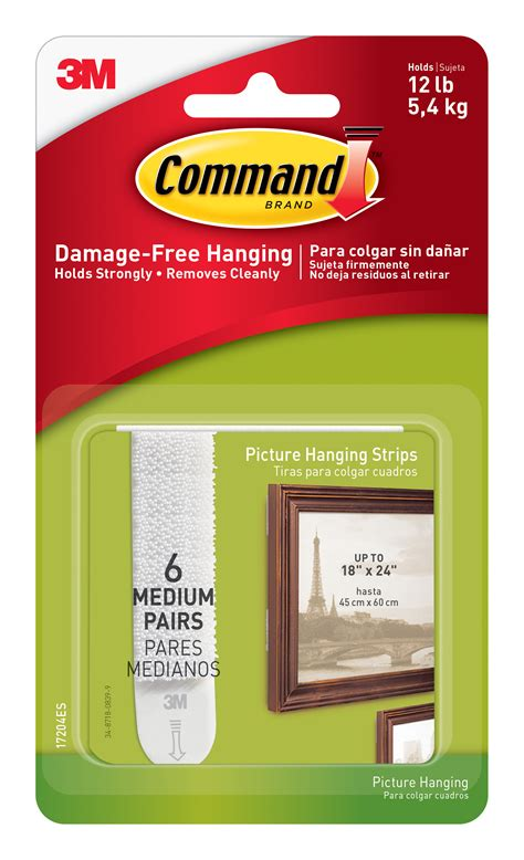 3m command medium picture hanging strips white 6 sets