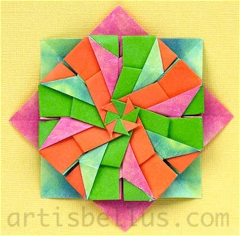 Modular Flower Origami - origami decorations modular flower origami artis bellus