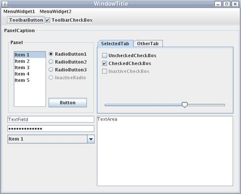 java swing gui components swing java wikipedia