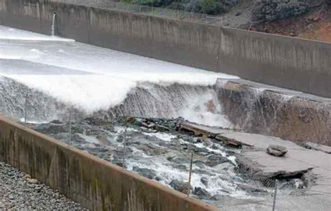 lake berryessa spillway construction in oroville dam spillway expected to grow