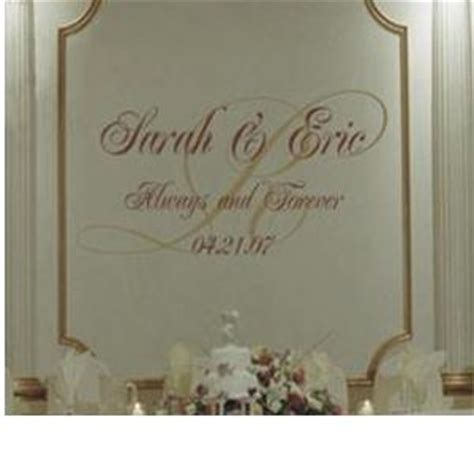 Wedding Monogram Always And Forever Vinyl Wall Decal