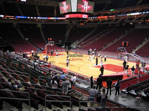 Houston Rockets Toyota Center Section 116
