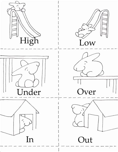 Opposites Coloring Pages Coloring Home