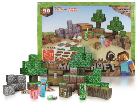 Minecraft Papercraft Overworld Set - overworld deluxe pack minecraft papercraft kit series