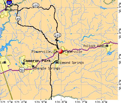 map of placerville ca area