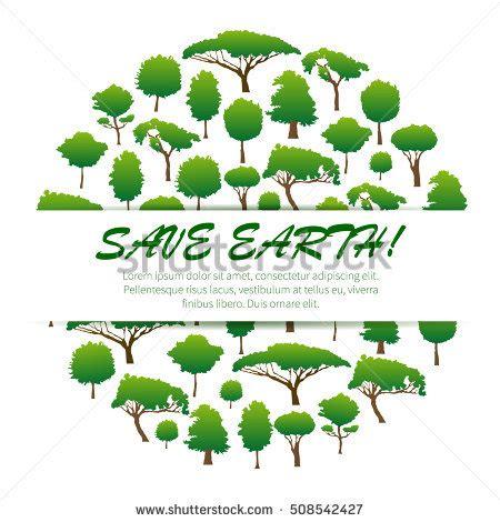 conservation through green building design earth habitat save earth environmental banner placard poster stock