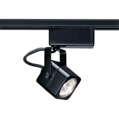 mini track light heads glomar 1 light mr11 12 volt black mini square track