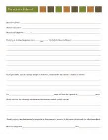 doctor referral form template client forms 187 ridgefield chiropractic and