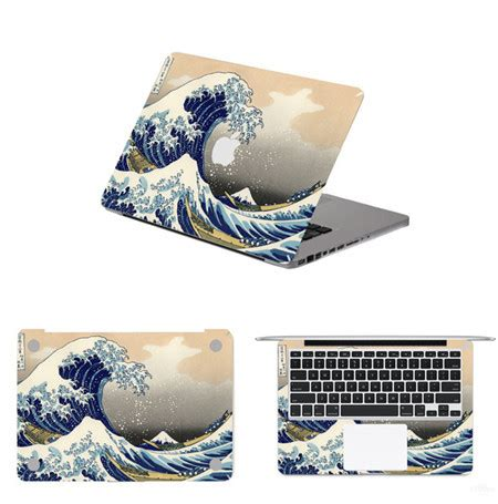 Promo Apple Mac Book 13 Decal Wave wave laptop decal sticker for apple