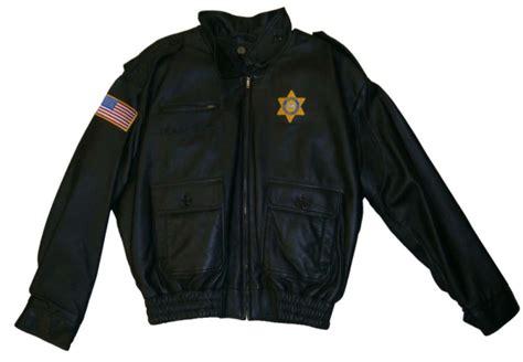 Handmade Apparel - custom made leather sheriff jackets la custom apparel