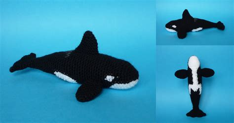 killer whale pattern amigurumi orca whale kalulu for