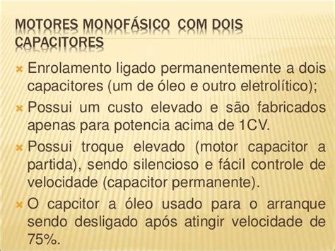 ligação motor monofasico capacitor permanente motores el 233 tricos de ca
