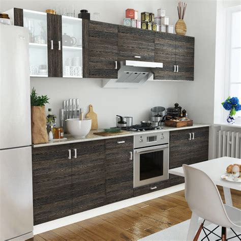 wenge kitchen cabinets vidaxl co uk wenge look kitchen cabinet unit 8 pcs