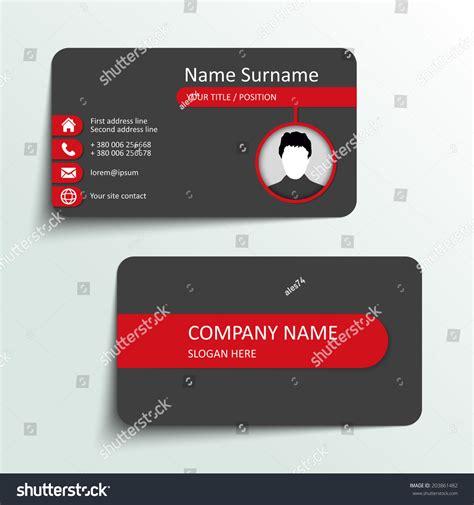simple business card website template modern simple business card vector template 203861482